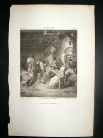 After A. Ostade C1810 Antique Print. Un Estaminet